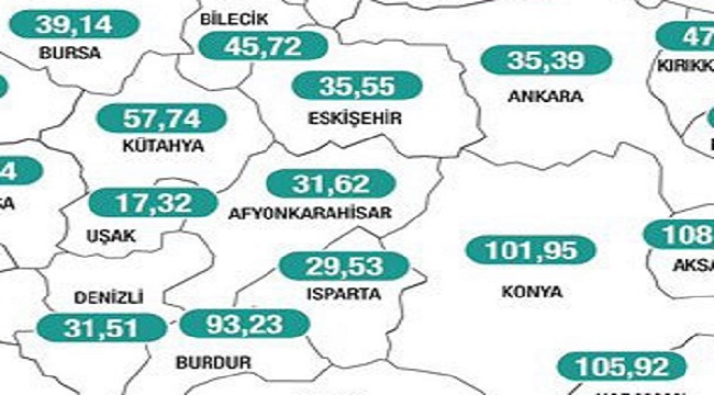 Afyon'da haftalık vaka sayıları yükselişe geçti
